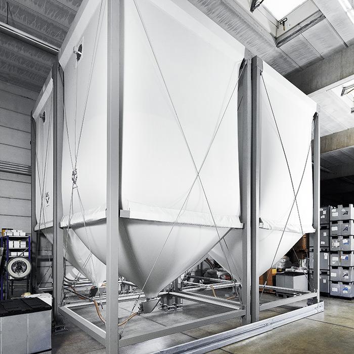 silos f r die industrie a b s flexible silos f r pellets und sch ttgut. Black Bedroom Furniture Sets. Home Design Ideas