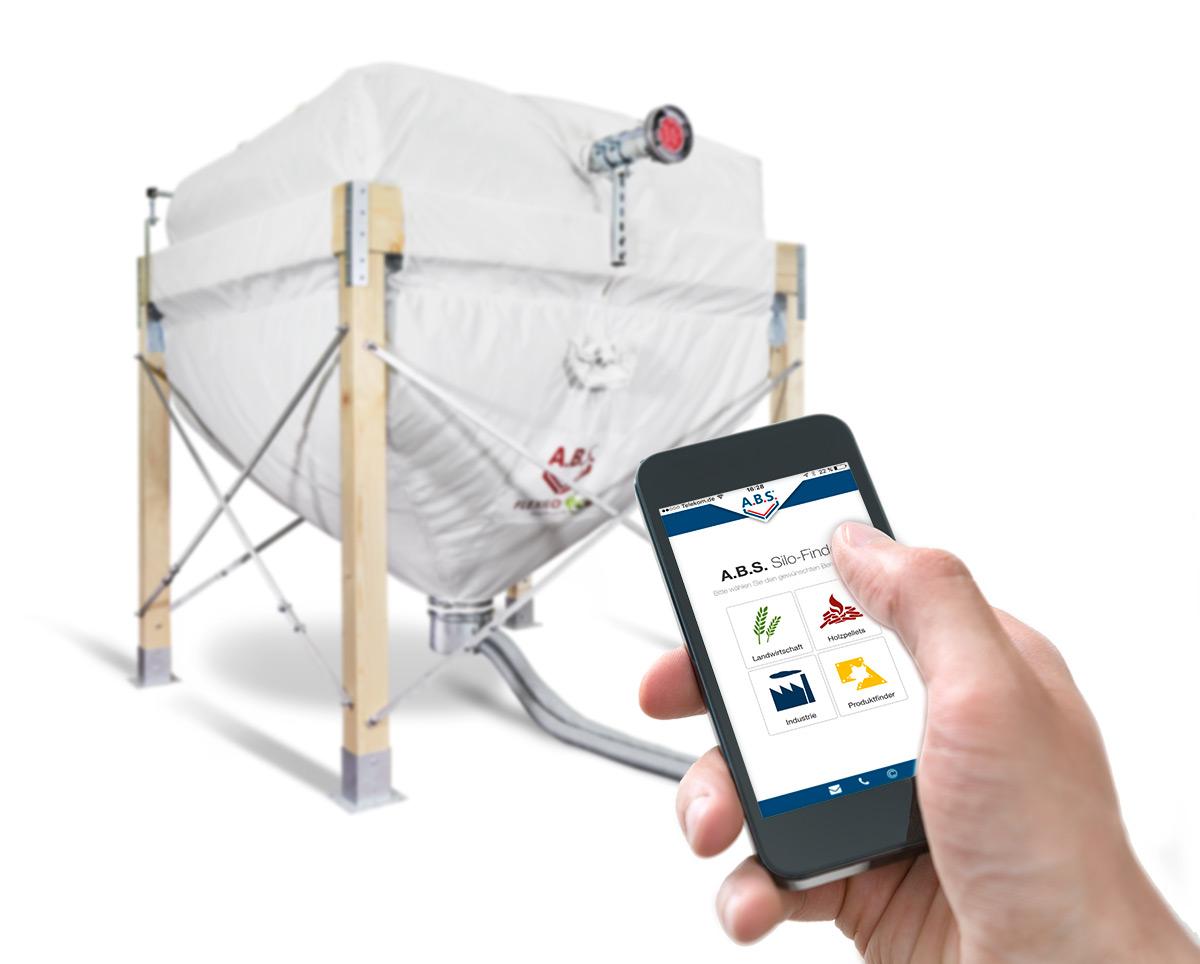 silo finder a b s flexible silos f r pellets und sch ttgut. Black Bedroom Furniture Sets. Home Design Ideas